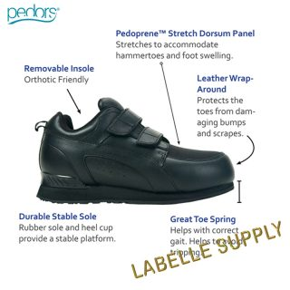 Pedors #800 Stretch Walker Touch Close Shoes