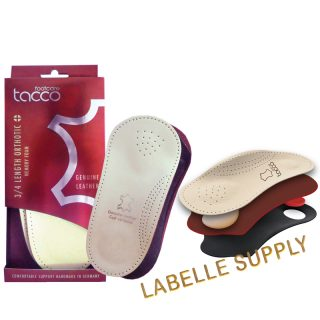 Tacco 3/4 Plus Length Comfort Orthotic Support Insoles
