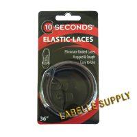 10 Seconds Lockable Elastic Laces 36 - Brown