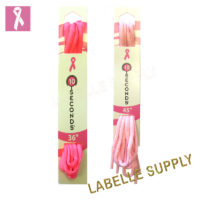 10 Seconds Pink Oval Laces