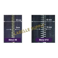 Metal Tape YKK Zippers