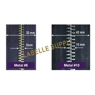 YKK Metal Zippers